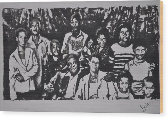 The Family Wood Print