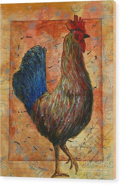The Farm House Chicken Wood Print