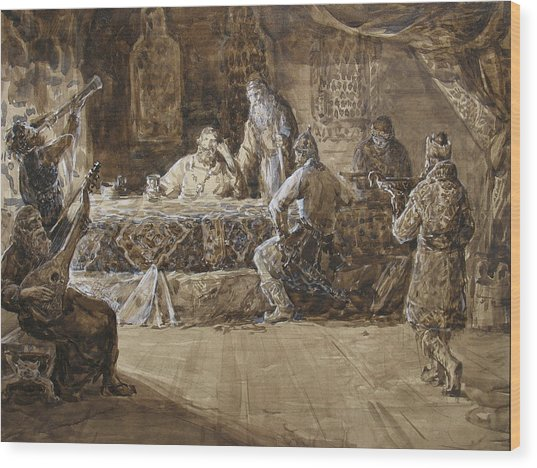 The Feast Of Prince Vladimir Wood Print by Korobkin Anatoly