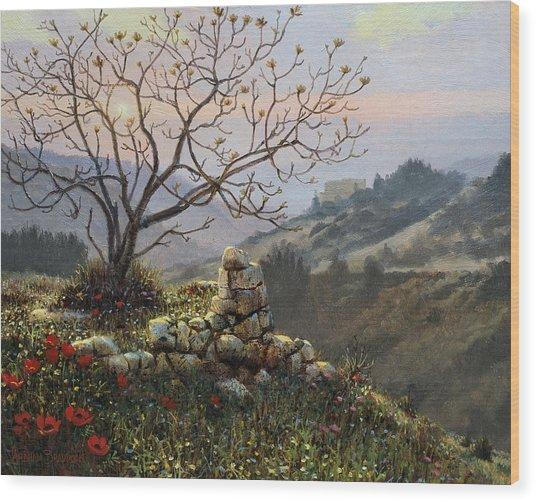 The Fig Tree   Mt Carmel Wood Print