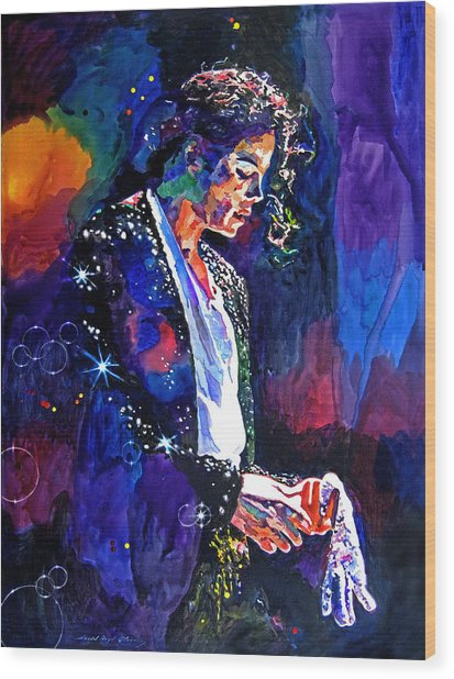 The Final Performance - Michael Jackson Wood Print