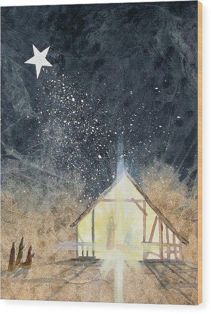 The First Christmas Wood Print