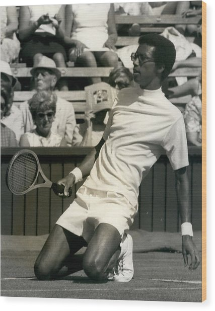 The First Dai Of The Wimbeddon Tennis Tournament Arthur Wood Print by Retro Images Archive