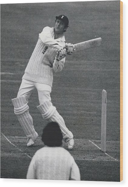 The First Day Of The Second Test - England V. New Zealand Wood Print by Retro Images Archive