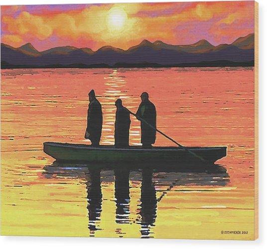 The Fishermen Wood Print
