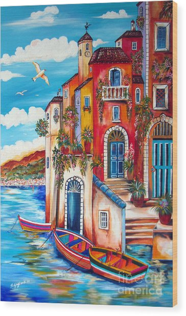The Fishermen Villa By The Amalfi Coast Wood Print