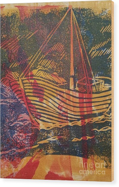 The Fishing Boat Wood Print