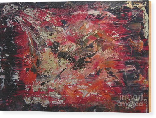 The Flameous Painting Wood Print