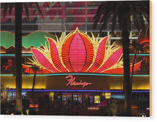 The Flamingo Hotel And Casino Las Vegas Wood Print
