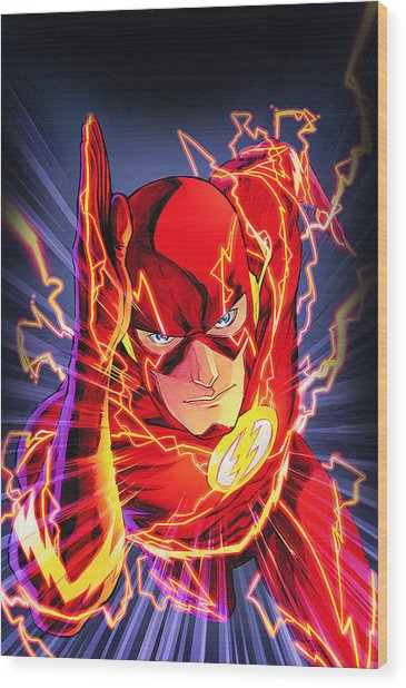 The Flash Wood Print