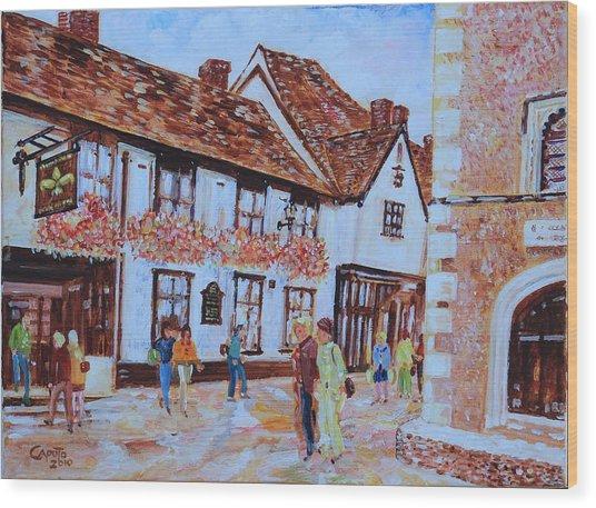 The Fleur De Lyse In St Albans Wood Print