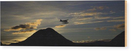 The Flight To Penn Point. Wood Print