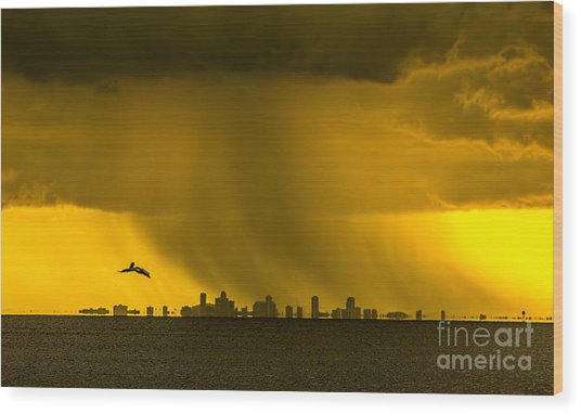 The Floating City  Wood Print