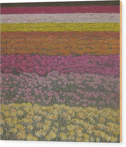 The Flower Field Wood Print