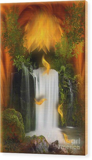 The Flower Of Joy - Fantasy Art By Giada Rossi Wood Print
