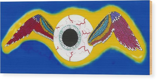 The Flying Eye Wood Print by Patrick OLeary
