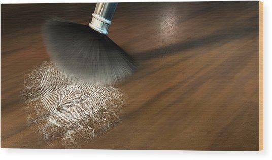 The Forensic Closeup Wood Print