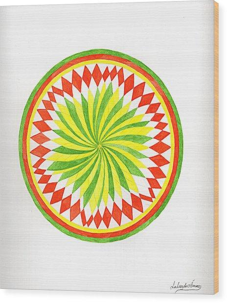 The Forest Mandala Wood Print by Silvia Justo Fernandez