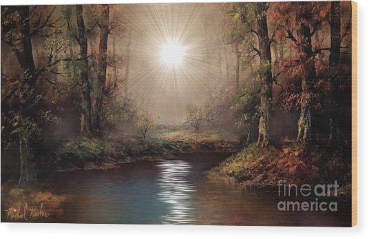 Sunrise Forest  Wood Print