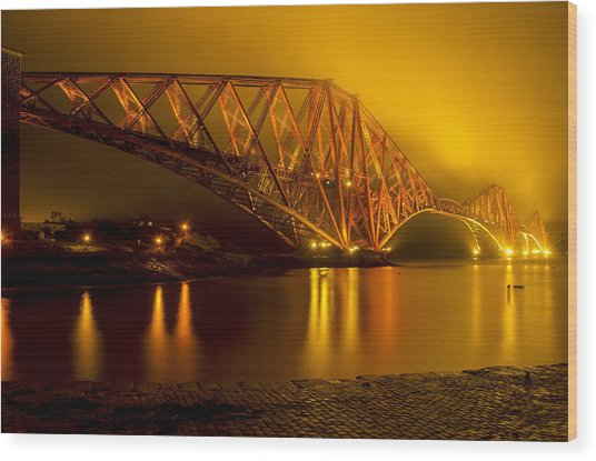 The Forth Bridge From North Queensferry Wood Print