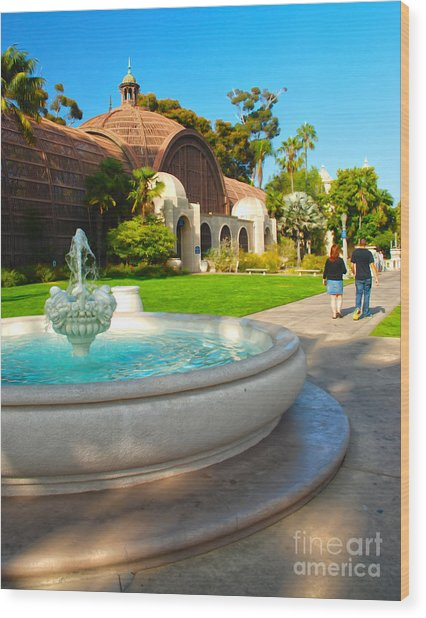 Botanical Building And Fountain At Balboa Park Wood Print