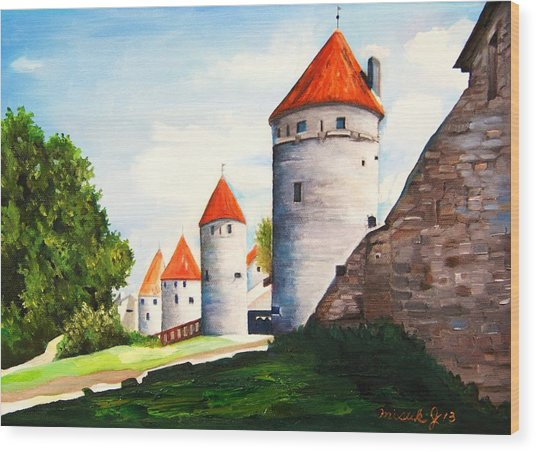 The Four Old Towers Estonia Wood Print
