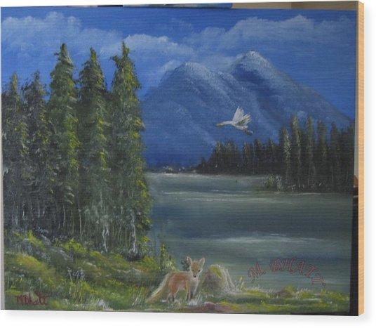 The Fox Wood Print by M Bhatt