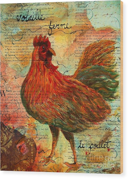 The French Chicken Wood Print