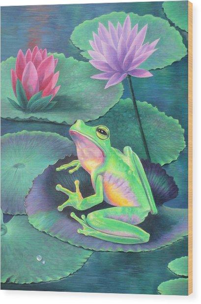 The Frog Wood Print
