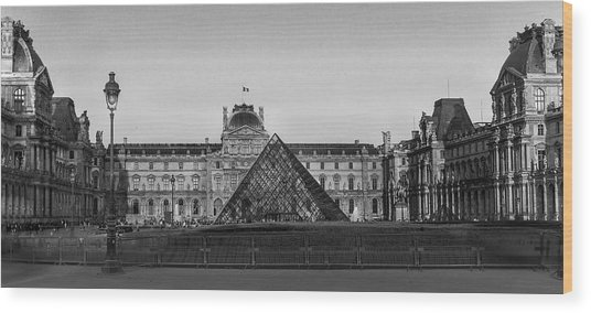 The Full Louvre Denise Dube Wood Print