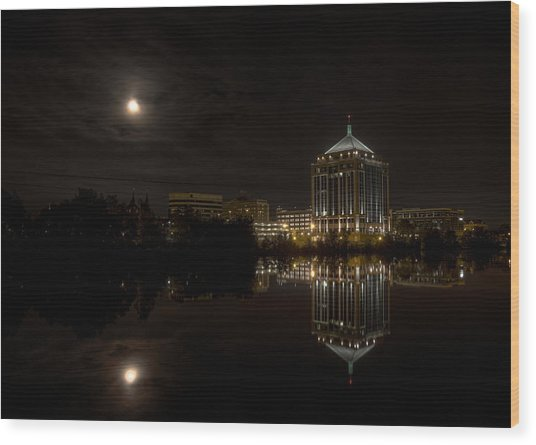 The Full Moon Over The Dudley Tower Wood Print