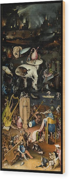 The Garden Of Earthly Delights. Right Panel Wood Print