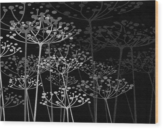 The Garden Of Your Mind Bw Wood Print