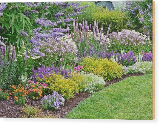 The Gardens Of Bethany Beach Wood Print