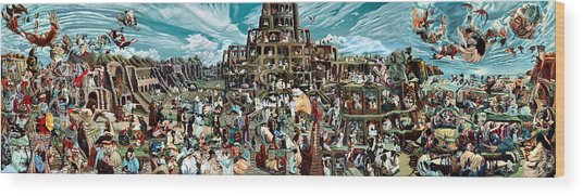 The Gardens Of Memory - Triptych -  Wood Print by Richard Meric