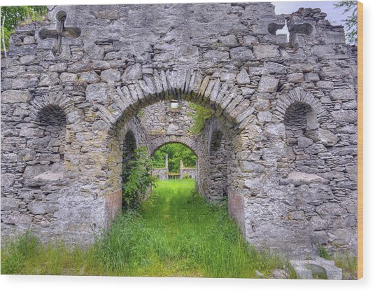 The Gate To The Ruins Wood Print