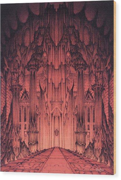 The Gates Of Barad Dur Wood Print