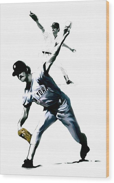 The Gator  Ron Guidry  Wood Print