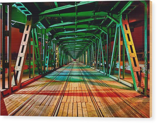 The Gdanski Bridge Wood Print