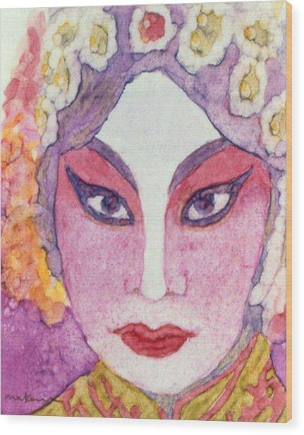 The Geisha Wood Print
