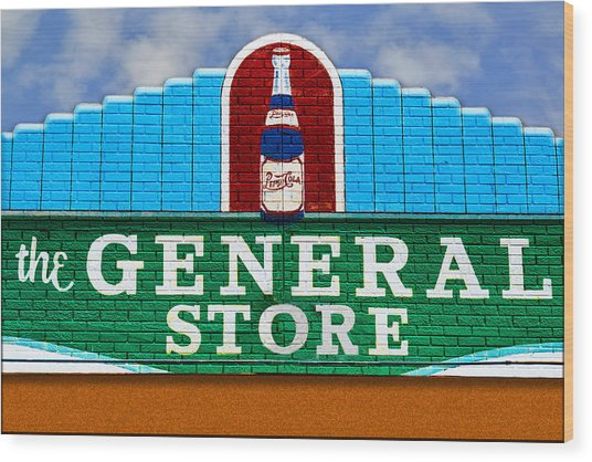 The General Store Wood Print