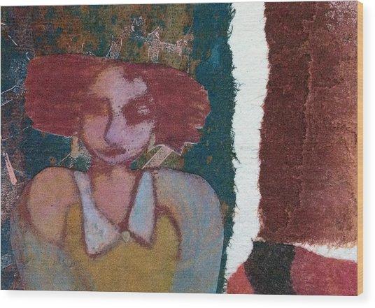 The Girl Waits Wood Print
