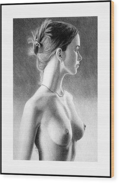The Girl With The Glass Earring Wood Print