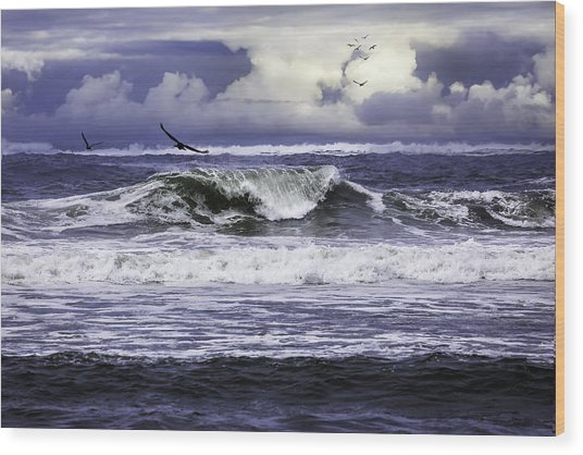 The Glory Of Morning On The Oregon Coast Wood Print