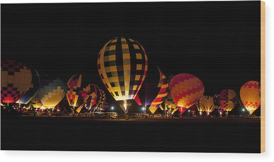 The Glow Wood Print by Danny Pickens