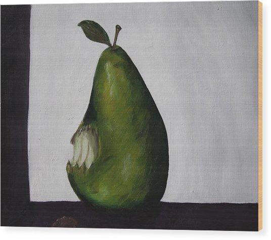 The Gmo Pear Wood Print by Alicia Lockwood