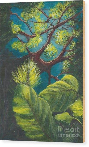 The Goblin Market Restaurant Tree Mt. Dora Wood Print