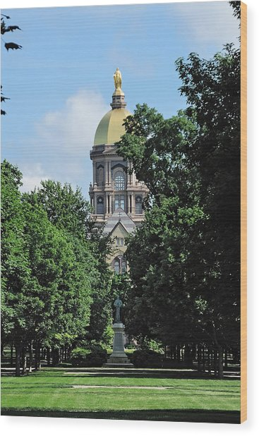The Golden Dome Wood Print