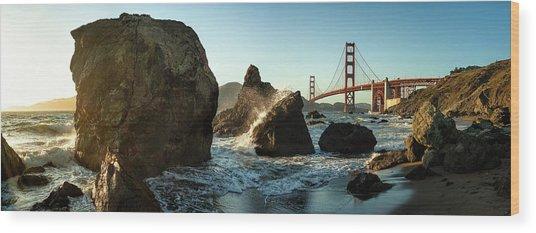 The Golden Gate Bridge Wood Print by Michael Kaupp