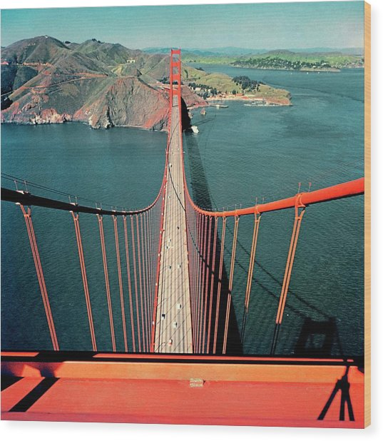 The Golden Gate Bridge Wood Print by Serge Balkin